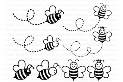 Bee SVG, Cute Bee SVG, Cute Queen Bee,  Bee Clipart.
