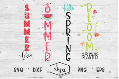 Spring/Summer Welcome Sign Bundle - A Collection Of Front Porch Sign S