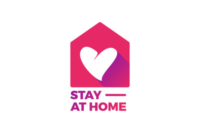 Stay At home logo vector
