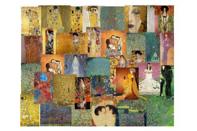 35 Gustav Klimt Vintage Ephemera Bundle Art Images,