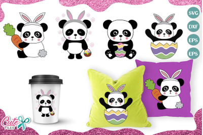 Easter Panda mini bundle svg file for crafter
