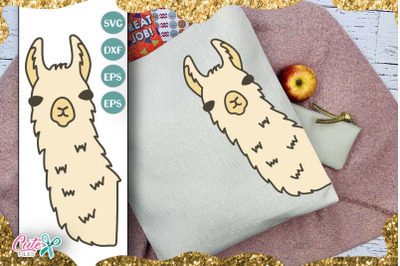 Llama face svg for crafter