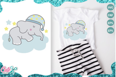 Little elephant, sweet dreams svg cut file