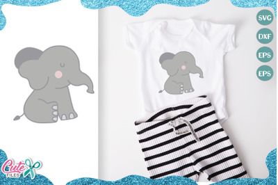 Little elephant svg cut file for crafter