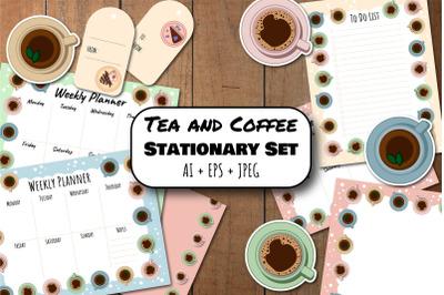 Tea and Coffee Stationary Set