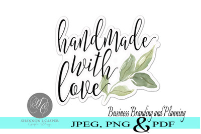 Handmade with Love Printable Labels