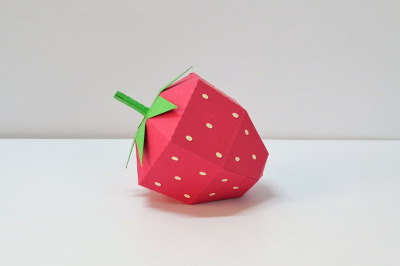 DIY Strawberry - 3d papercraft