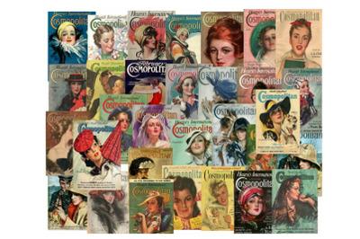 30 Cosmopolitan Magazine Covers Vintage Ephemera Images