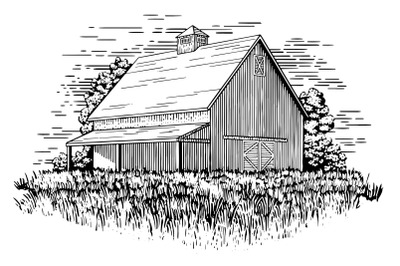 Old Barn Illustration