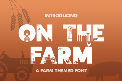 On the Farm Font