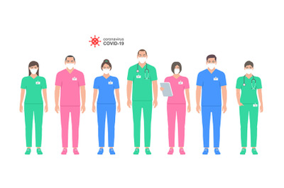Group of Doctors and nurse