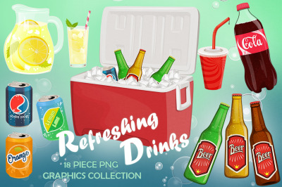 Refreshing Drinks Graphics Set