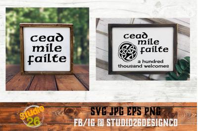 Celtic Welcome - Cead Mile Failte - Bundle - SVG PNG EPS