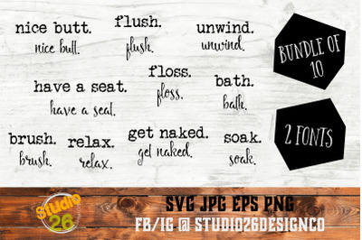 Farmhouse Words Bundle #1 - 10 Options - SVG PNG EPS