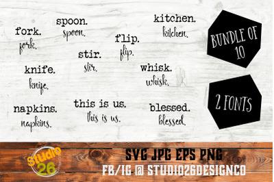 Farmhouse Words Bundle #3 - 10 Options - SVG PNG EPS
