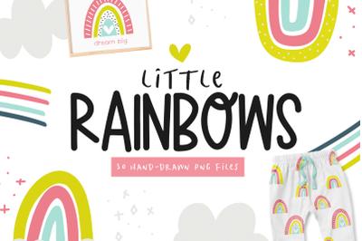 Bright Rainbows Clip Art Illustrations