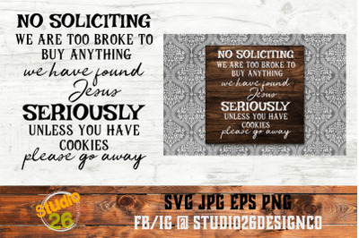 No Soliciting - SVG PNG EPS