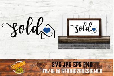 Sold - Realtor Sign - SVG PNG EPS