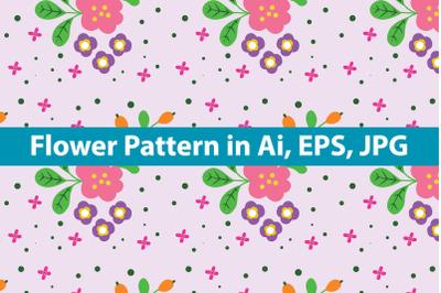 Minimalist Flower Pattern Art