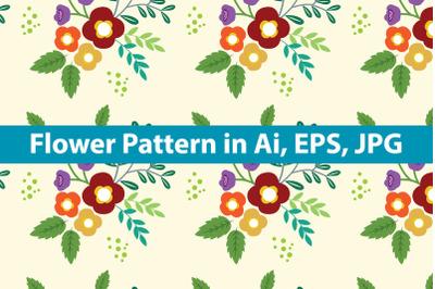 Minimalist Background Flower Pattern
