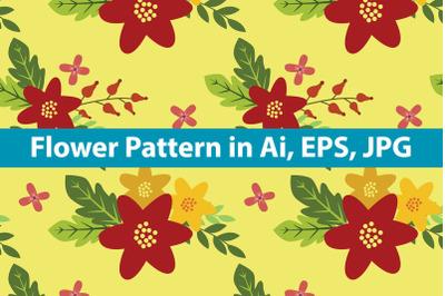 Flower Pattern Vintage Background