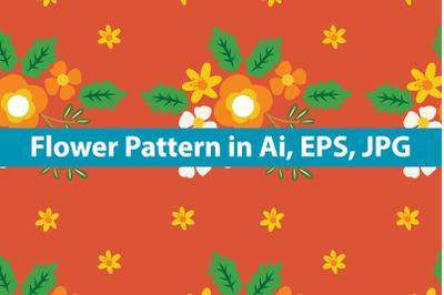 Flower Pattern Vintage Design