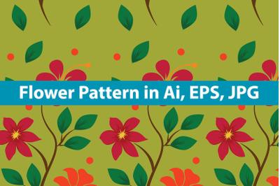 Vintage Flower Pattern Design