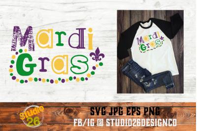 Mardi Gras - Beads - Fleur De Lis - SVG PNG EPS