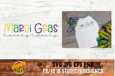 Mardi Gras 2020 - SVG PNG EPS