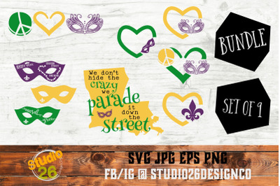 Mardi Gras Bundle of Bundles - 15 Options - SVG PNG EPS