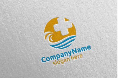 Cross Wave Medical Hospital Logo 32
