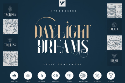 Daylight Dreams - Serif Font + Extra