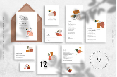 Artisan Abstract Wedding Invitation Suite