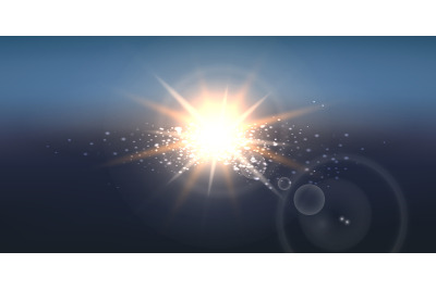 Realistic Sun Wide Background