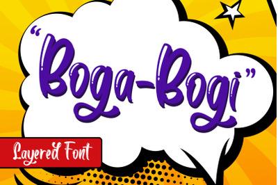 Boga-bogi layered font
