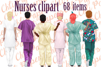 Nurses cliapart,Medical clipart,Custom Nurse,Doctor clipart