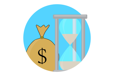 Time and money icon concept