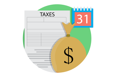Tax day concept icon
