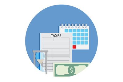 Time for taxation icon
