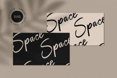 Space SVG Casual Font
