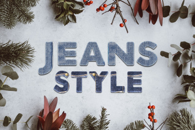 36 Jeans Style Text Effect