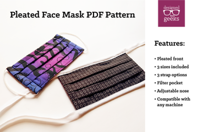 Pleated Face Mask Sewing Pattern | PDF