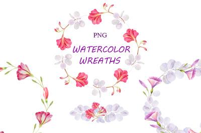 Watercolor wreaths