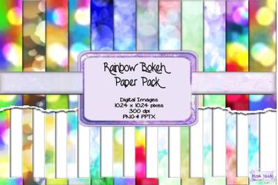Rainbow Bokeh Paper Pack