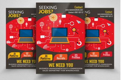We Are Hiring/Job Vacancy Flyer