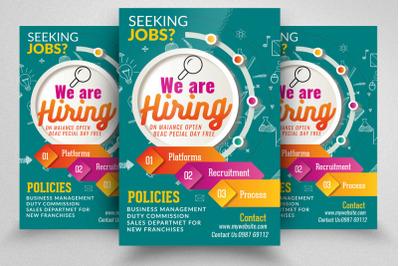 Job Vacancy/Hiring Flyer Template
