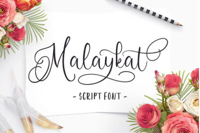 Malaykat Script Font