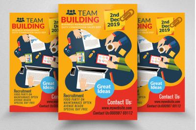 Work Training & Team Building Flyer Template