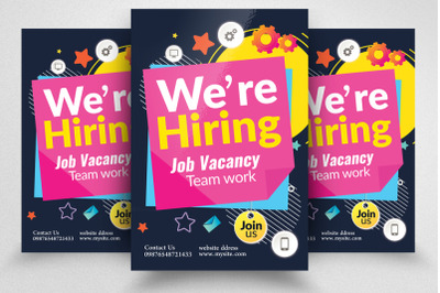 We Are Hiring Flyer Template