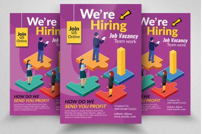 We Are Hiring/Job Vacancy Flyer Template